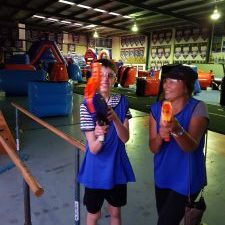 bec and call water pistols at fun park