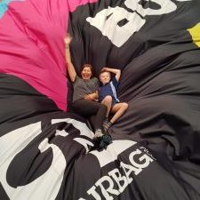 bec&call participating in social activities huge airbag